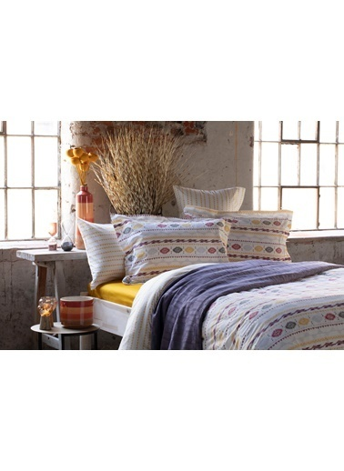 Bella Maison %100 Pamuk Kanza Volanlı Yastık Kılıfı 50x70 cm (2 adet) Renkli